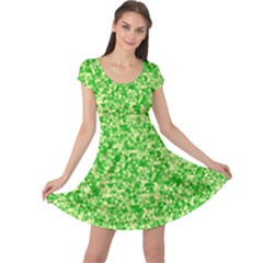 Specktre Triangle Green Cap Sleeve Dresses by Alisyart