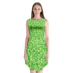 Specktre Triangle Green Sleeveless Chiffon Dress   by Alisyart