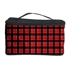 Red Plaid Cosmetic Storage Case by PhotoNOLA