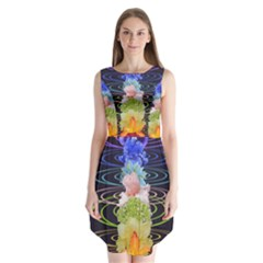 Chakra Spiritual Flower Energy Sleeveless Chiffon Dress   by Simbadda