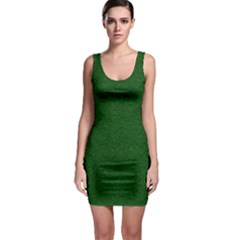 Texture Green Rush Easter Sleeveless Bodycon Dress by Simbadda