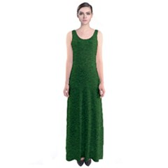 Texture Green Rush Easter Sleeveless Maxi Dress by Simbadda