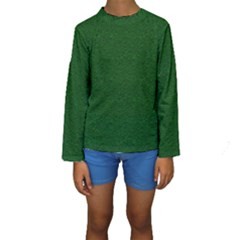 Texture Green Rush Easter Kids  Long Sleeve Swimwear by Simbadda