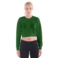 Texture Green Rush Easter Women s Cropped Sweatshirt by Simbadda
