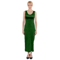 Texture Green Rush Easter Fitted Maxi Dress by Simbadda
