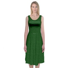 Texture Green Rush Easter Midi Sleeveless Dress by Simbadda
