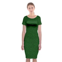 Texture Green Rush Easter Classic Short Sleeve Midi Dress by Simbadda