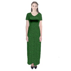 Texture Green Rush Easter Short Sleeve Maxi Dress by Simbadda