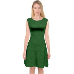 Texture Green Rush Easter Capsleeve Midi Dress by Simbadda