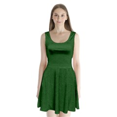 Texture Green Rush Easter Split Back Mini Dress  by Simbadda