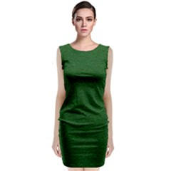 Texture Green Rush Easter Sleeveless Velvet Midi Dress by Simbadda