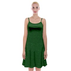 Texture Green Rush Easter Spaghetti Strap Velvet Dress by Simbadda