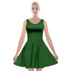 Texture Green Rush Easter Velvet Skater Dress by Simbadda