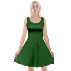 Texture Green Rush Easter Reversible Velvet Sleeveless Dress by Simbadda