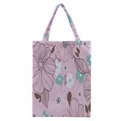 Background Texture Flowers Leaves Buds Classic Tote Bag