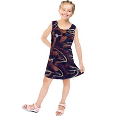 Feathers Bird Black Kids  Tunic Dress by Simbadda