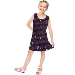 Cubes Small Background Kids  Tunic Dress by Simbadda