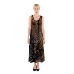 Coffe Break Cake Brown Sweet Original Sleeveless Maxi Dress by Alisyart