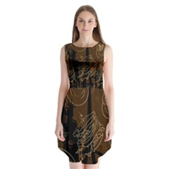 Coffe Break Cake Brown Sweet Original Sleeveless Chiffon Dress   by Alisyart