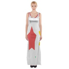 Evolution Jumsoft Star Maxi Thigh Split Dress by Alisyart