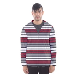 Fabric Line Red Grey White Wave Hooded Wind Breaker (men) by Alisyart