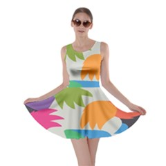 Hand Rainbow Blue Green Pink Purple Orange Monster Skater Dress
