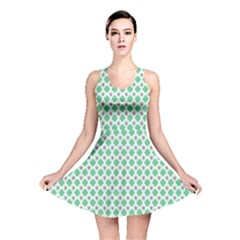 Crown King Triangle Plaid Wave Green White Reversible Skater Dress by Alisyart