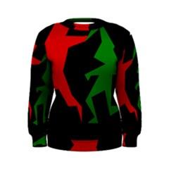 Ninja Graphics Red Green Black Women s Sweatshirt by Alisyart