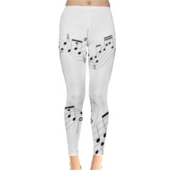 Music Note Song Black White Leggings