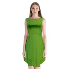 Green Wave Waves Line Sleeveless Chiffon Dress   by Alisyart