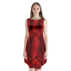 Tunnel Red Black Light Sleeveless Chiffon Dress   by Simbadda