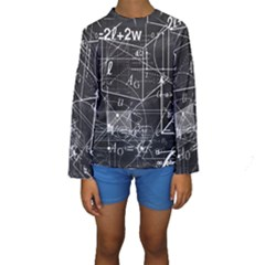 School Board  Kids  Long Sleeve Swimwear by Valentinaart
