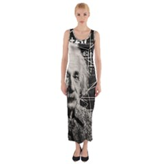 Albert Einstein Fitted Maxi Dress by Valentinaart