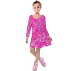 Pattern Kids  Long Sleeve Velvet Dress by Valentinaart