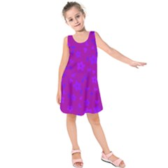 Floral Pattern Kids  Sleeveless Dress by Valentinaart