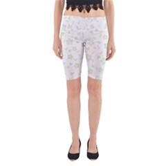 Floral Pattern Yoga Cropped Leggings by Valentinaart
