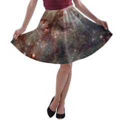 Tarantula Nebula A Line Skater Skirt by SpaceShop