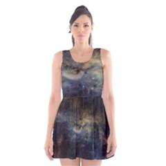 Propeller Nebula Scoop Neck Skater Dress by SpaceShop