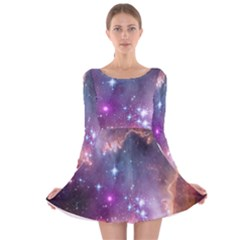 Small Magellanic Cloud Long Sleeve Velvet Skater Dress by SpaceShop
