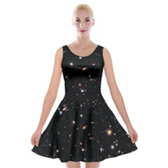 Extreme Deep Field Velvet Skater Dress by SpaceShop