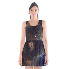 Seagull Nebula Scoop Neck Skater Dress by SpaceShop