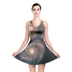 Whirlpool Galaxy And Companion Reversible Skater Dress by SpaceShop