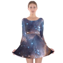 New Stars Long Sleeve Velvet Skater Dress by SpaceShop