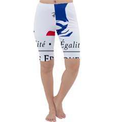 Symbol Of The French Government Cropped Leggings  by abbeyz71