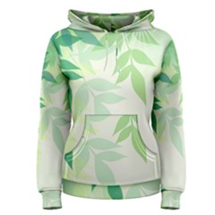 Spring Leaves Nature Light Women s Pullover Hoodie by Simbadda