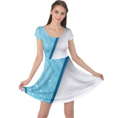 Water Bubble Waves Blue Wave Cap Sleeve Dresses by Alisyart