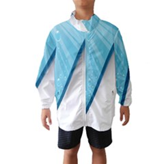 Water Bubble Waves Blue Wave Wind Breaker (kids) by Alisyart