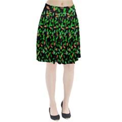 Leaves True Leaves Autumn Green Pleated Skirt