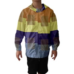 Color Therey Orange Yellow Purple Blue Hooded Wind Breaker (kids) by Alisyart