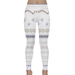 Bird Fly Butterfly Flower Floral Rose Blue Red Pink Classic Yoga Leggings by Alisyart